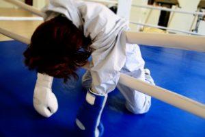 ボクシングで落ち込む